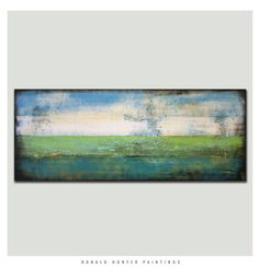 Abstract Painting Canvas Wall art GREEN by RonaldHunter on Etsy