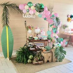 Gardening Jobs Near Me 2nd Birthday Party Themes, Moana Birthday Party, Hawaiian Birthday, Flamingo Birthday, Luau Party, Birthday Party Decorations, Birthday Parties, Moana Party, Moana Themed Party