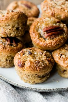 If you like pecan pie, you'll love this twist on the classic. These delicious mini pecan muffins will be a hit at any party!
