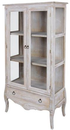 Vitrina 2Puertas/1Cajón 76x35x160 Milk Paint Furniture, Painting Antique Furniture, My Furniture, Distressed Furniture, Recycled Furniture, Shabby Chic Furniture, Rustic Furniture, Painted Furniture, Furniture Design