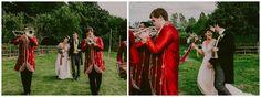 A colourful baja band are a great fun way to make an entrance to your marquee field wedding.  #weddingideas #boho #inspiration #weddingreception #festivalwedding #hippy Images copyright Lucabella. www.lucabella.co.uk