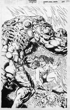 Berni Wrightson -  Wonder Woman Annual #7 cover Comic Art