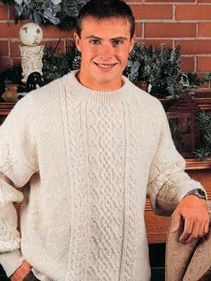 Updated Aran Pullover free crochet pattern of the day from freepatterns.com 9/7/13