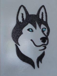 String Art by Bigantic on Etsy Nail String Art, String Crafts, Arte Linear, Giraffe Art, String Art Patterns, Button Art, Embroidery Art, Dog Design, Dog Art