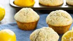 These lemon coconut muffins make the perfect breakfast or snack. Easy to make, they freeze well, and everyone loves them. Perfect for breakfast on the go! Lemon Cranberry Muffins, Lemon Poppyseed Muffins, Lemon Muffins, Carrot Muffins, Banana Bread Recipes, Muffin Recipes, Baking Recipes, Cake Recipes, Dessert Recipes