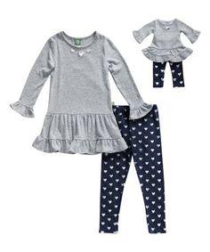 4b66b9b13 Dollie & Me Gray & Blue Drop-Waist Tunic & Leggings Set & Doll Outfit -  Girls · Tunic LeggingsDrop WaistBlue GreyKids OutfitsDollsToddler ...