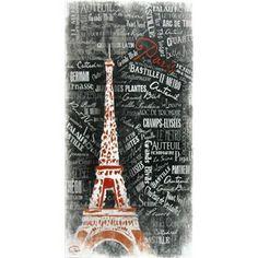 Black & Red Eiffel Tower Canvas   Shop Hobby Lobby