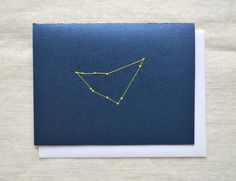 Capricorn Constellation Zodiac Embroidery Card by KotoDesigns