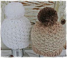 Suvikumpu: The PiPO-ohje Knitted Hats, Crochet Hats, Drops Design, Diy Crochet, Fun Projects, Handicraft, Winter Hats, Christmas Ornaments, Knitting