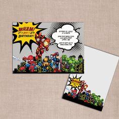 super hero invitations