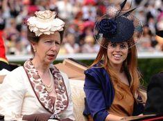 The Princess Royal and Princess Beatrice at Ascot