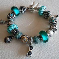 Teal Pandora bracelet