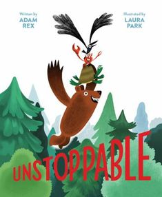 Unstoppable! by Adam Rex. (San Francisco, California : Chronicle Books LLC, 2020). When a bird and a crab team up to combine the advantages of flight and claws, it gives them an idea: why not expand the team to include other animals who have a special trait -- and soon they all set out to rescue their lake from development, because united together they are unstoppable. New Books, Good Books, Read Aloud Books, Book Reviews For Kids, Bestselling Author, Childrens Books, Funny Pictures, This Book, Illustration