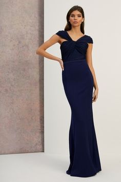 Lipsy Twist Bodice Maxi Dress