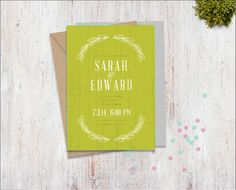 Semi-Custom Premade Wedding Invitation