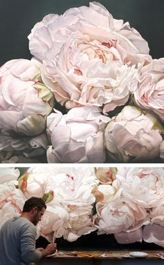 Oversized flower paintings - The House That Lars Built
