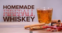 Many homesteaders have decided to make their own homemade fireball cinnamon whiskey after the commercial brand of Fireball whiskey has been found to have Homemade Fireball Recipe, Fireball Recipes, Homemade Alcohol, Homemade Liquor, Alcohol Recipes, Fireball Moonshine Recipe, Drink Recipes, Homemade Moonshine, Fireball Cocktails