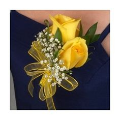 Classic Rose Yellow Boutonniere and Corsage Wedding Package - Polyvore
