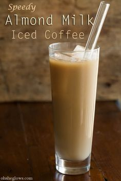 Speedy Almond Milk Iced Coffee using DIY Coffee Concentrate. Bid farewell to expensive coffee shop prices!
