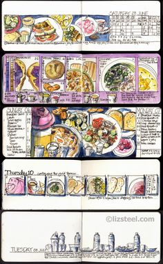 The perfect project for 'The Perfect Sketchbook': A sketching diet! : Liz Steel