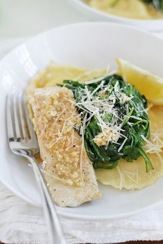 Salmon and Ravioli with Lemon-Garlic Butter | Girl Versus Dough