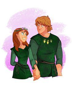 Kristoff & Anna troll wedding
