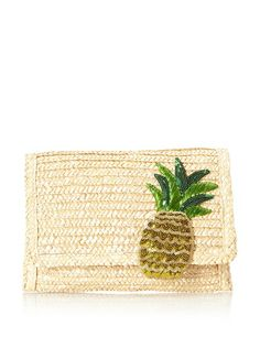 Felix Rey Women's Pineapple Punch Straw Clutch, love the pineapple, good for dinners during the summer