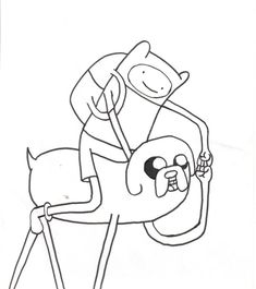 Cartoon Network Adventure Time Coloring Pages | Finn and Jake Coloring Page by thepope1932 on deviantART