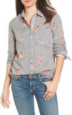 Rails Women's Taylor Floral Stripe Shirt