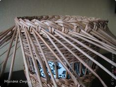 Мастер-класс Декупаж Плетение МК кашпо для цветов Бумажные полосы Салфетки фото 9
