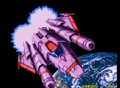 Alpha Mission II Neo Geo Intro.
