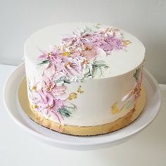 Soul Cake: Specializing in wedding and celebration cakes in MA Pretty Cakes, Beautiful Cakes, Amazing Cakes, Pear And Almond Cake, Almond Cakes, Soul Cake, Cake Decorating Piping, Watercolor Cake, New Cake