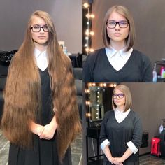 Long Hair Cuts, Long Hair Styles, Before And After Haircut, Bun Hairstyles For Long Hair, Hair Buns, Super Long Hair, Beautiful Long Hair, Cut Off, Women