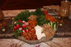 herbs, nuts, & dried fruits-perfect appetizer, persian style