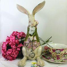 White Rabbit figurine 11 tall Alice in Wonderland