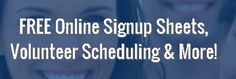 Sign up sheet volunteer scheduling software and volunteer
