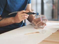 Little Geometric Terrarium / Dodecahedron / Handmade Glass door Waen