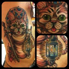 Unusual Amazing Cat Tattoos (5)
