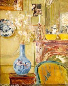 BLANCHE Jacques Émile,Le salon jaune à Offranville,Deauville Auction - Me Le Houelleur,Deauville
