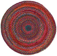 Extra Weave USA Carnivale Braided Rug, 3-Feet Round by Extra Weave USA. $39.99. Made of cotton. Super fun design, brightly colored chindi cotton rags braided together. Made in india. Professional cleaning recommended, not for use over carpeting. 3-feet round area rug by extra weave usa. Brighten any room with extra weave's carnivale braided rug. This lovely rug is made with braided colored chindi cotton rags. The 3-feet round size is perfect for bedrooms, kitchens,...