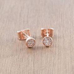 rose gold stud earrings by astrid & miyu | notonthehighstreet.com