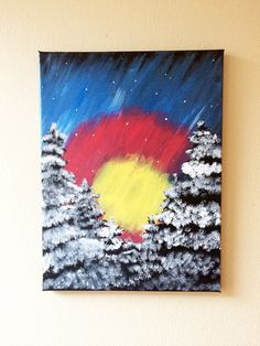 Hey, I found this really awesome Etsy listing at https://www.etsy.com/listing/219063294/colorado-flag-in-night-snow-scene-12x16