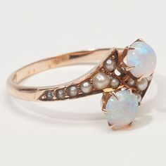 pearl and opal ring