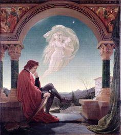 Dante Meditating (1852) by Joseph Noel Paton (Scottish, 1821-1901)