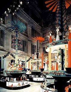 National Museum of American History, Smithsonian Institution  The main aisle of Marshall Field & Co., Chicago, circa 1955.