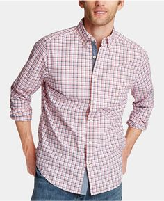 Men's Clothing Casual Shirts Flannel Plaid Shirts Men Autumn Spring Slim Long Sleeve Brand Loose Cotton Red And Black Plaid Formal Dress Male Shirts Big Size Vivid And Great In Style