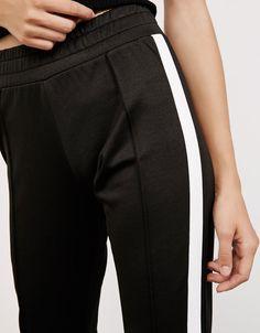 Pantalón jogger banda lateral - Pantalones - Bershka España