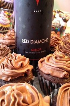 Merlot Cupcakes. Made with box mix.  Easy and super tasty!