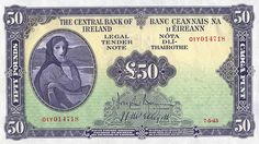 1943 £50 Central Bank of Ireland