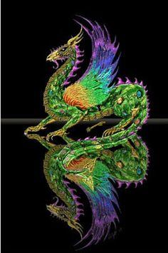 Clockwork Dragon, a limited edition unframed art print Dragon Images, Dragon Pictures, Fantasy Dragon, Fantasy Art, Fantasy Creatures, Mythical Creatures, Dragon's Lair, Image 3d, Water Dragon